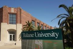 NEW ORLEANS LA/USA -03-22-2019: Universitetsområde av Tulane University i New Orleans arkivbild