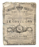 New Orleans Le Comte Ory Opera Flyer. Vintage Antique Style Opera Theater Flyer New Orleans in French Royalty Free Stock Photo