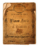 New Orleans Le Comte Ory Opera Flyer Stock Images