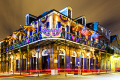 New Orleans Life. NEW ORLEANS, LOUISIANA USA- JAN 23 2016: Pubs and Bars having colorful lights and decorations in the French Quarter. Tourism provides a much
