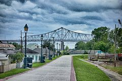 New orleans louisiana city skyline and street scenes Royalty Free Stock Photo