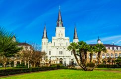 St. Louis Cathedral in New Orleans stock images