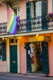 New Orleans, Louisiana - July 8, 2015: Bourbon Pride shop in French Quarter at New Orleans that sells products for LGBT community. Stock Photos
