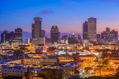 New Orleans Louisiana. New Orleans, Louisiana downtown city skyline royalty free stock photos