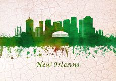 New Orleans Louisiana skyline vector illustration
