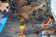 Free New Orleans, Louisiana, U.S.A - February 4, 2020 - The Fighter Jets Hanging On The Ceiling At The National World War II Museum Royalty Free Stock Photography - 174502087