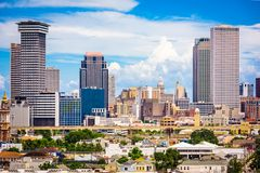 New Orleans, Louisiana, USA. Downtown city skyline royalty free stock photography