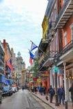 New Orleans, Luisiana, bei cieli USA-28 sopra il monumento storico del quartiere francese a New Orleans immagini stock