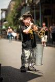 New Orleans - músico de la calle Fotos de archivo