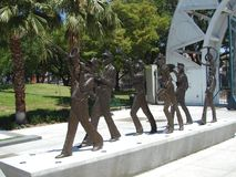 New Orleans Marching Brass Band Sculpture  In Louis Armstrong Park Stock Photo