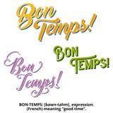 New Orleans Mardi Gras Bon Temps Design & typografi Arkivfoton