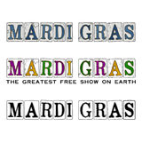 New Orleans Mardi Gras Carnival Season Design & typografi Royaltyfria Foton