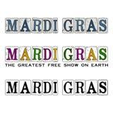 New Orleans Mardi Gras Carnival Season Design y tipografía Fotos de archivo libres de regalías