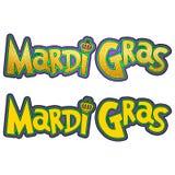 New Orleans Mardi Gras Design & typografi Royaltyfria Foton