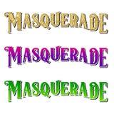 New Orleans Mardi Gras Design & typografi Arkivbilder
