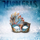 New Orleans Mardi Gras Mask Collection Fotografia Stock