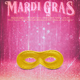 New Orleans Mardi Gras Mask Collection Royalty-vrije Stock Afbeelding
