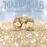 New Orleans Mardi Gras Mask Collection Stock Photos