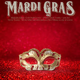 New Orleans Mardi Gras Mask Collection Royalty Free Stock Images