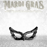 New Orleans Mardi Gras Mask Collection Stock Photography