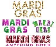 New Orleans Mardi Gras Titles imágenes de archivo libres de regalías
