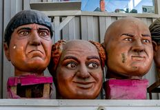 New Orleans Mardi Gras World - Drie Stooges Royalty-vrije Stock Foto