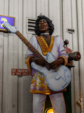 New Orleans Mardi Gras World - Jimi Hendrix Stock Photos