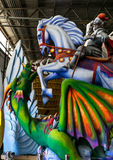New Orleans Mardi Gras World - Saint George Stock Photo