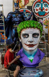 New Orleans Mardi Gras World Workshop - The Joker. New Orleans Mardi Gras World - Workshop Royalty Free Stock Images