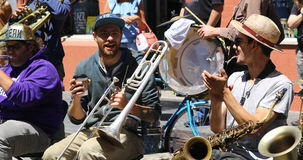 NEW ORLEANS - MAY 5, 2017 - Street performers in the streets of Stock Photo