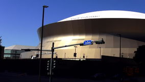 New Orleans Mercedes Benz Superdome New Orleans Louisiana almacen de metraje de vídeo