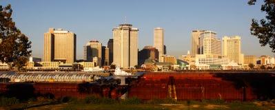 New Orleans - morgonhorisont från Algiers Arkivfoton