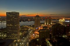 New Orleans morning. Sunrise - morning in New Orleans Royalty Free Stock Photos