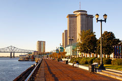 New Orleans - Morning Along the Waterfront Royalty Free Stock Images