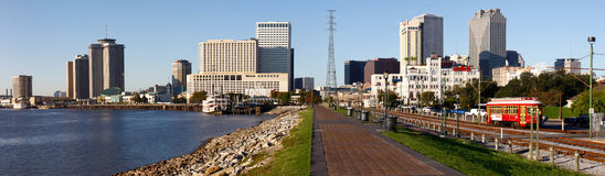 New Orleans - Morning Skyline from Holdenberg Park Royalty Free Stock Photos