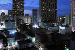 New Orleans Night. NEW ORLEANS LOUISIANA  - DECEMBER 9, 2005:  Dusk falls on NOLA's historic downtown Royalty Free Stock Photos