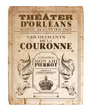 New Orleans Orleans Theater Opera Fllyer. Vintage Antique Style Opera Theater Flyer New Orleans at the Orleans Theater Louisiana Royalty Free Stock Images