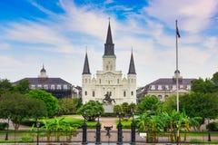 New Orleans på Jackson Square Royaltyfria Foton