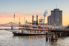 New Orleans paddle steamer in Mississippi river in New Orleans. Louisiana Royalty Free Stock Photo