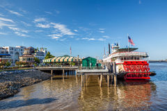 New Orleans paddle steamer in Mississippi river in New Orleans Royalty Free Stock Photography