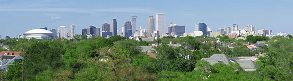 New Orleans panoramahorisont Arkivbild