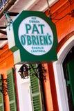New Orleans passande OBriens stång Charlie Cantrell Arkivbild