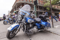 New Orleans Police Motorcycle Royalty Free Stock Photo