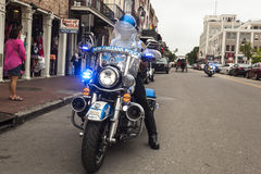 New Orleans Police Motorcycle Royalty Free Stock Image