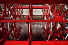 New Orleans - rött skovelhjul i rörelse Fotografering för Bildbyråer