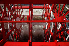 New Orleans - Red Paddlewheel in Motion Stock Image