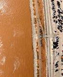 New Orleans riverwalk, overhead view Stock Photo