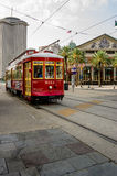 New Orleans RTA Street Car to City Park. New Orleans RTA Street Car going to City Park Stock Photo