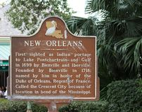 New Orleans sign. New Orleans, Louisiana, historic sign in the French Quarter Stock Photo