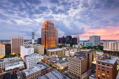 New Orleans Skyline. New Orleans, Louisiana, USA CBD skyline at night Royalty Free Stock Photos